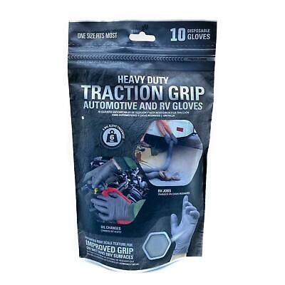 $ CDN11.41 • Buy Heavy Duty Traction Grip Gloves, Disposable Nitrile, 6 Mil, Gray, 10 Ct One Size