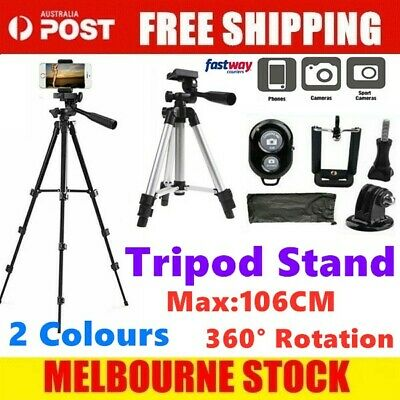 AU17.09 • Buy Professional Camera Tripod Stand Mount + Phone Holder For Phone IPhone Samsung