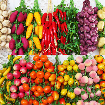 Artificial Fake Chilies Vegetables Plants Home Garden Hanging Crafts Decor • 2.88£