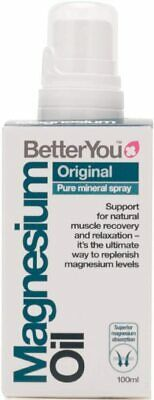 BetterYou Original Magnesium Oil Spray - 100ml FREE & FAST DELIVERY • 10.59£