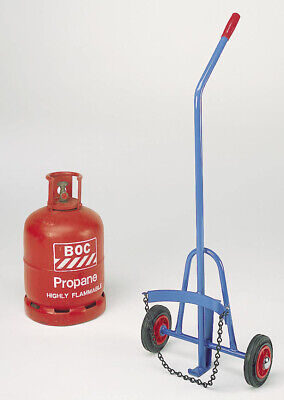 £129 • Buy Small Propane /  Calor Gas Cylinder Trolley 160mm Solid Wheels - SC03