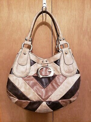 $ CDN43.71 • Buy GUESS LEATHER PATCHWORK HANDBAG - Excellent Condition! With Complimenting Wallet