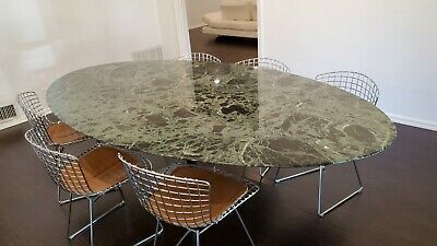 $550 • Buy Authentic Knoll Saarinen Oval Marble Dining Table 96