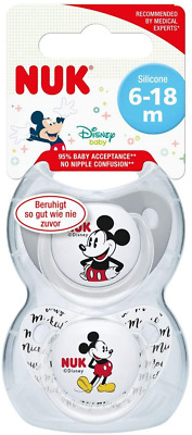 £9.26 • Buy NUK Disney Baby Dummies  6-18 Months   Silicone Soothers   BPA Free   Mickey &  