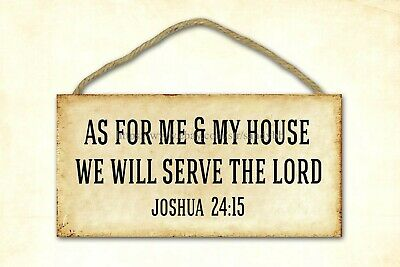 Room Decoration Plaque As For Me And My House We Will Serve The Lord Wood Sign • 11.57£