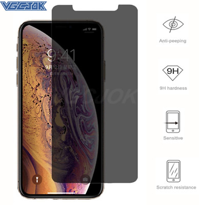Privacy Tempered Glass Screen Protector For IPhone 11 Pro XR XS Max 8 7 6 Plus • 2.79£