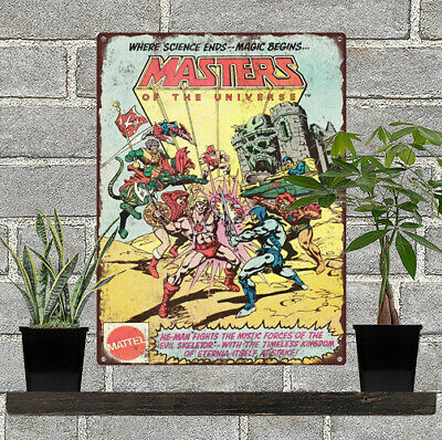 $21.95 • Buy 1981 He-Man Masters Of The Universe MOTU Skeletor Metal Sign Repro 9x12  60468