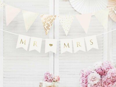Just Married Mr And Mrs Wedding Party Banner Bunting Decorations Banners  • 2.89£
