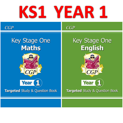 £11.90 • Buy KS1 Year 1 Maths English Targeted Study Question Book With Answer CGP