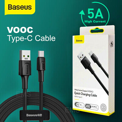 AU9.99 • Buy BASEUS Oppo Vooc 5A Flash Charge Fast Charing Type C Data Charger Cable Cord