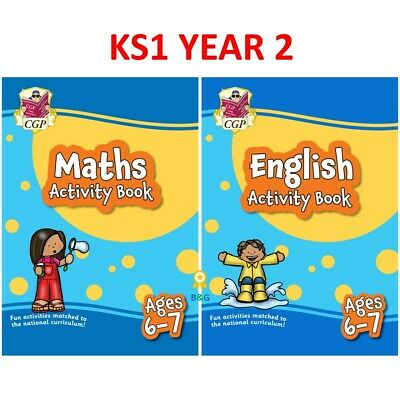 KS1 Year 2 Maths And English Home Learning Activity Books 2 Pack Ages 6-7 CGP • 9.49£