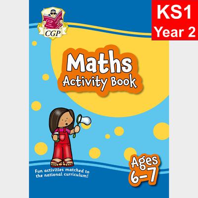 KS1 Year 2 Maths Home Learning Activity Book For Ages 6-7 CGP • 5.49£