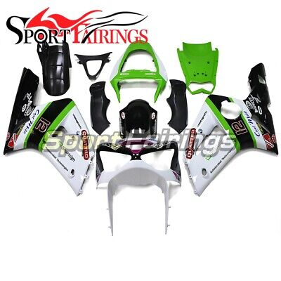 $462.99 • Buy White Black Green Bodywork For Kawasaki ZX6R 2003 2004 636 Zx6r 03 04 Fairings
