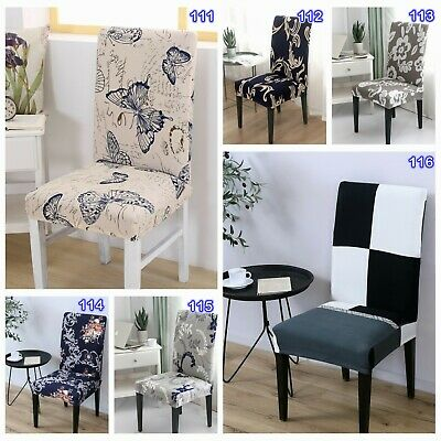 AU42.03 • Buy Stretch Dining Chair Covers Slipcover Spandex Wedding Cover 4/6/8Pcs Removable