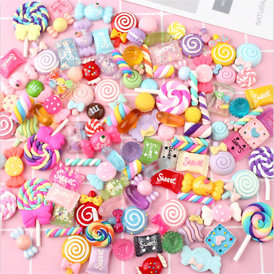 AU6.95 • Buy 30Pcs Colorful Slime Beads Resin Candy Flatbacks Scrapbooking Charms DIY Crafts