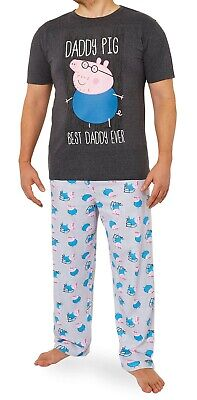Peppa Pig Mens Pyjamas Set, Mens Pjs With Daddy Pig, Daddy Gifts • 20.34£