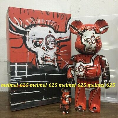 $255.88 • Buy Bearbrick Medicom 2020 Jean Michel Basquiat #5 100% 400% 2pcs Set Be@rbrick