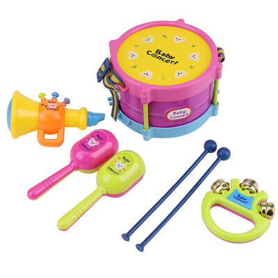 Musical Instrument Educational Toys Set Drum Bell Sand Hammer Trumpet For Baby • 4.20£