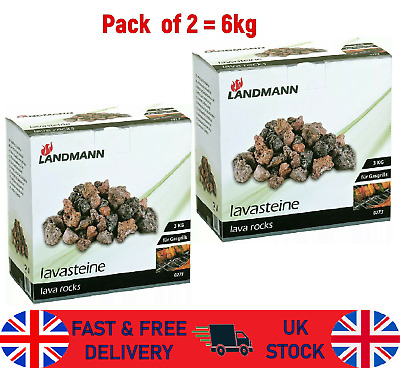 £18.23 • Buy Landmann Lava Rock Pack Gas Barbecue Coal Replacement BBQ Fire Camp Burner 6Kg