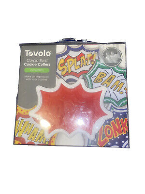 Tovolo Comic Book Burst Cookie Cutter Design Stamps Set, Dishwasher Safe • 4.46£