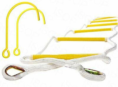 ISOP Fire Escape Rope Ladder 2 Story 13 Ft With Hooks - 13ft  • 110.36£