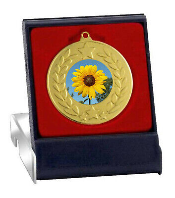 £3.89 • Buy Sunflower Tallest Medal In Box Free Engraving Mb4188a