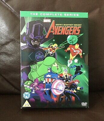 Marvel Avengers Earths Mightiest Heroes The Complete Series 8 Dvd Boxset • 10£