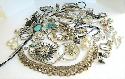 $ CDN199.88 • Buy Vtg Lot 45 + Lot Sterling Silver~Gold Fill Monet~Celebrity~Italy Necklaces~More