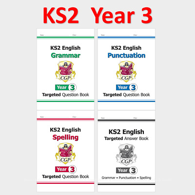 £13.99 • Buy KS2 Year 3 English Targeted Question Book Grammar Punct Spelling With Answer CGP
