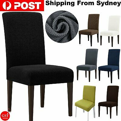 AU43.99 • Buy 1-8PCS Stretch Chair Cover Washable Removable Slipcover Banquet Furniture Covers