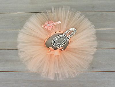 AU38 • Buy Cake Smash Outfit - First Birthday Tutu Set - Baby Girl - Peach - Tutu