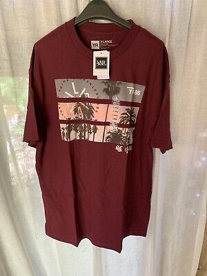 BRAND NEW Young & Reckless Men's Graphic Print Red T-shirt - Size XL (Chest 48 ) • 7.49£