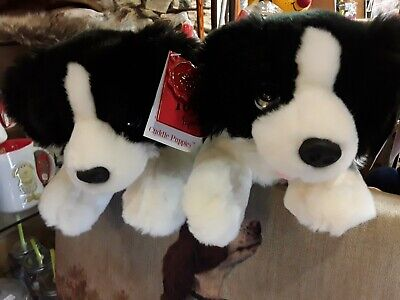 Keel Toys Signature Puppies 25cm Border Collie Dog Cuddly Soft Toy Teddy  • 12£