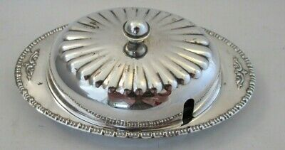 A Vintage Silver Plated Butter Dish • 16£