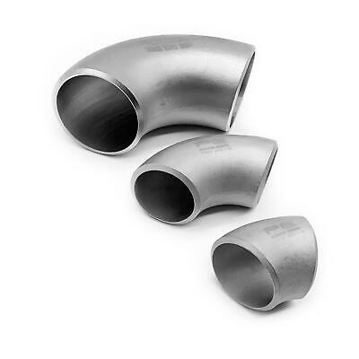 304 Stainless Steel SCH10 45 Or 90 Degree Elbow Turbo Exhaust Manifold Bend • 8.95£