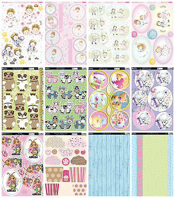 £8.99 • Buy Cute Themed Kanban Card Kit, Sugar Buttons- Die Cut Paper Craft Toppers & Card
