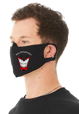 AU18.38 • Buy Were All Mad In Here Unisex 4 Ply Cotton Face Covering/Masks. Washable, Comfy