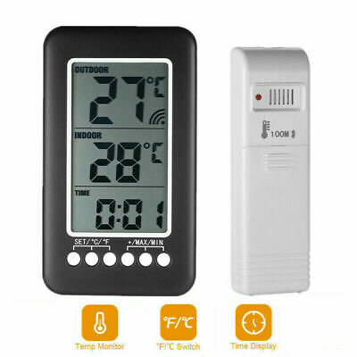 $14.49 • Buy Digital Indoor Outdoor Weather Station Clock Calendar Wireless Thermometer