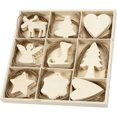 £3.45 • Buy Decopatch Christmas Decorations Wooden Decoupage 9 Pack