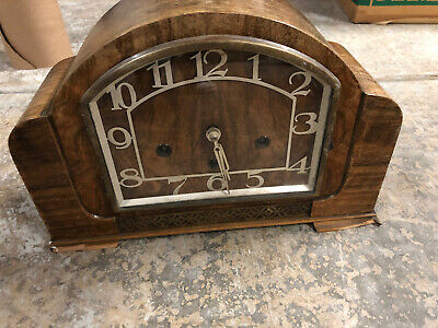 Haller Foreign R R Antique Clock With 8 Day Movement 12cm/190,66 1920s • 149.06£