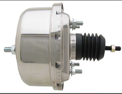 AU69 • Buy Brake  Booster  Ford  Mustang  64 To 66   7 Inch Single Diaphragm Chrome Plated