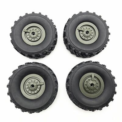 $15.82 • Buy 4pcs Military RC Truck Wheels Kids Remote Controlled Car Toy Upgrade Spare Parts