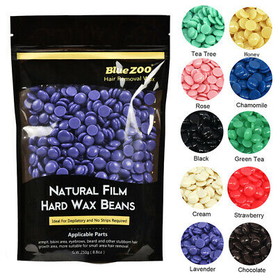 BlueZOO 250g Depilatory Hot Film Hard Wax Beans Pellet Waxing Bikini Hair R Z5P2 • 6.37£