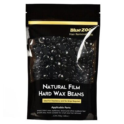 2X(BlueZOO 250g Depilatory Hot Film Hard Wax Beans Pellet Waxing Bikini Hai P6H4 • 11.84£