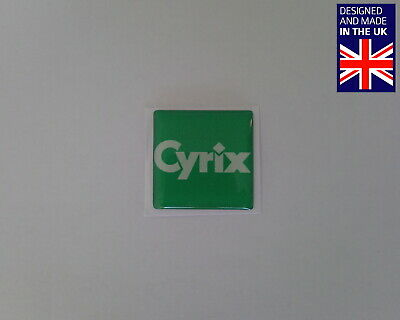 Cyrix Processors 25 X 25mm 1  Domed PC Case Badge Logo Decal 486 5X86 6x86 L MX • 3.75£