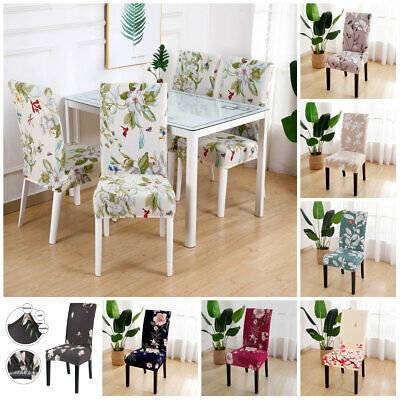 Stretch Dining Chair Covers Seat Slip Cover Wedding Banquet Party Removable Deco • 4.83£