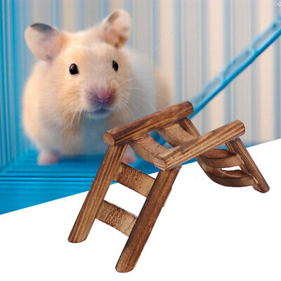 Pet Ladder Hamster Toys Small Animals Climbing Wooden Bridge Toy Pet Supplies • 4.09£