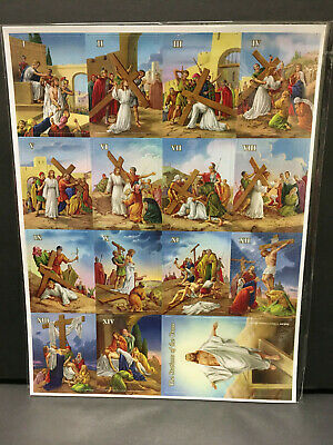 Stations Of The Cross Magnet Set I-XIV 2-1/2  High Includes Resurrection 3-1/2  • 7.34£