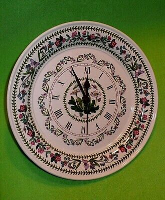 PORTMEIRION Botanic Garden Dinner Plate Wall Clock With DAISIES . 10 1/2   Wide • 32.72£