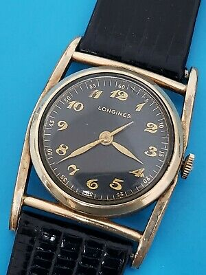 $ CDN726.60 • Buy VINTAGE 194Os LONGINES MAINLINER 10KGF MANUAL CAL.10L BLACK DIAL MENS WATCH RARE